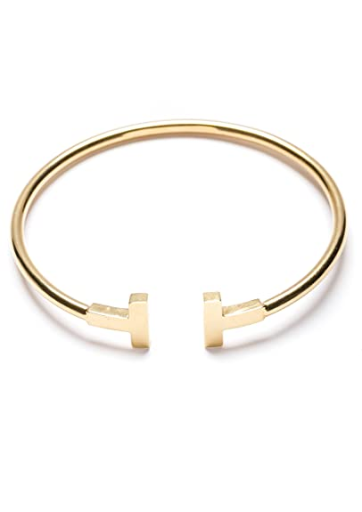 Happiness Boutique Damas Pulsera Estilo Minimalista en Oro | Brazalete Rígido en Color Neutro Libre de Níquel Prime: Happiness Boutique: Amazon.es: Joyería