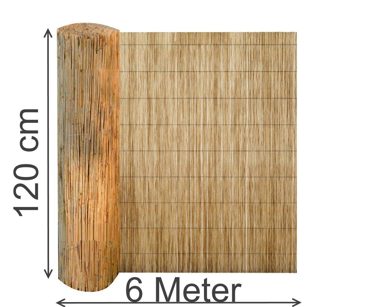 Excolo Schilfrohrmatte 120x600 Cm Sichtschutz Zaun Schilfrohrmatte