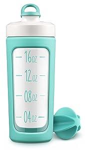 Ello Splendid 20oz Glass Shaker Bottle