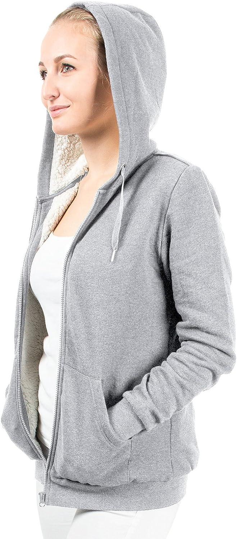 Casual Standard Felpa con cappuccio e zip per donna