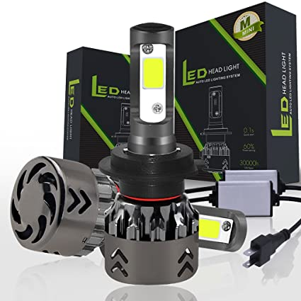 Runrain - Juego de 2 Bombillas LED H7 de Alto Rendimiento, 120 W, 20000