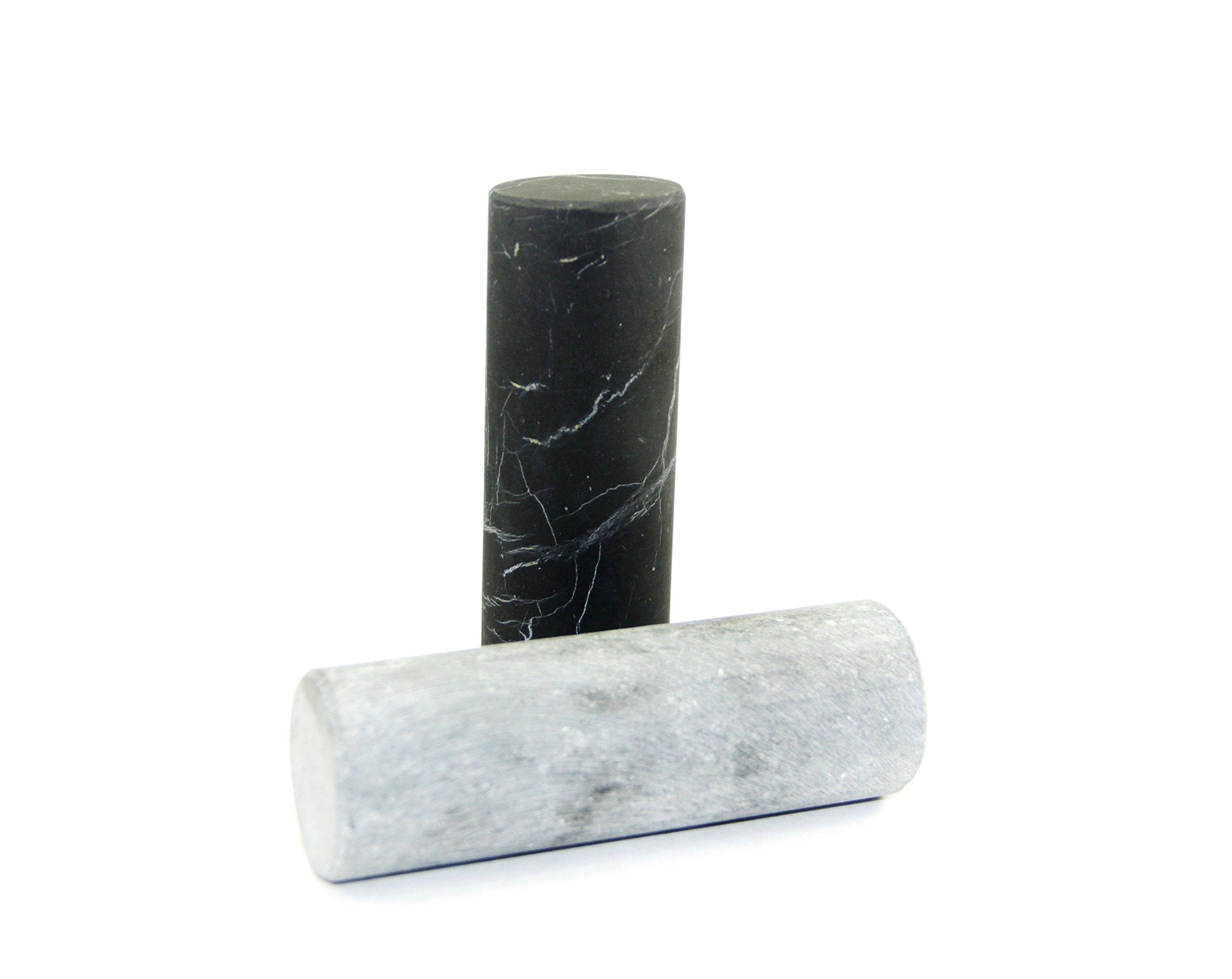 Unpolished Shungite Crystal Pharaoh Cylinders - 100% natural unpolished gemstone - Russia Stone - Gem - Semi precious Mineral - Reiki, Meditation, Crystal Healing - Alien Stone by Crystal Dreams (Image #2)