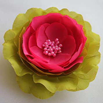 Amazon Sara Monica Flower Hair Clip And Pin Peonygreen With