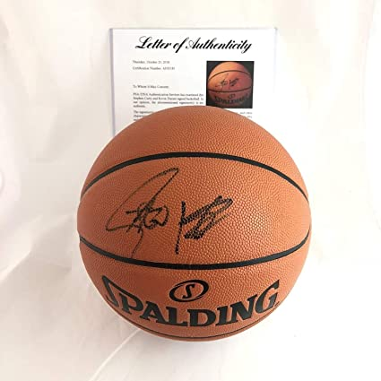 f64e19e578e Stephen Curry Kevin Durant Autographed Signed Basketball PSA DNA Warriors Autographed  Signed Steph