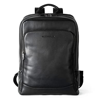bcb878453 Image Unavailable. Image not available for. Color: Sharkborough The  Entrepreneur Men's Backpack Genuine Leather Business Travel Bag Extra  Capacity