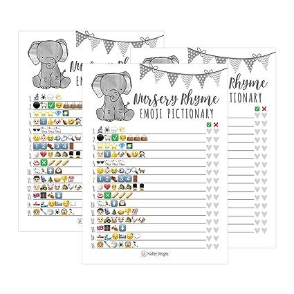 free printable nursery rhyme baby shower game
