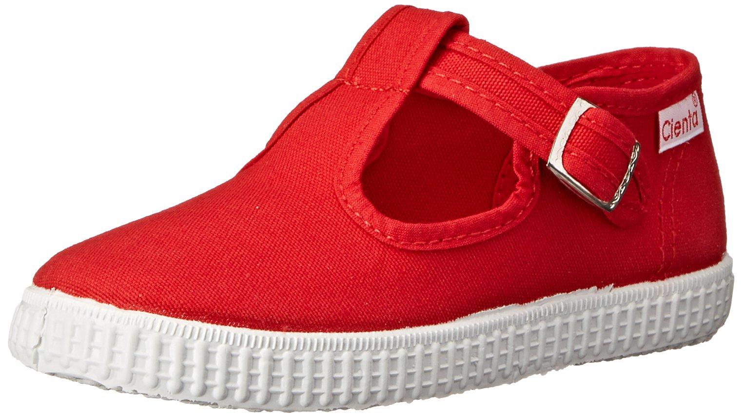 Cienta 51000 T-Strap Fashion Sneaker, Red, 21 EU/5 M US Toddler