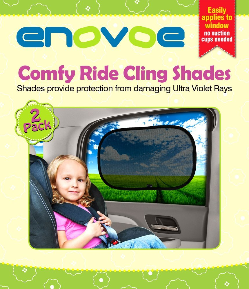 Car sun shade 2 pack premium baby car window shades are best for blocking over 97 of harmful uv rays while protecting your child from sunlight and