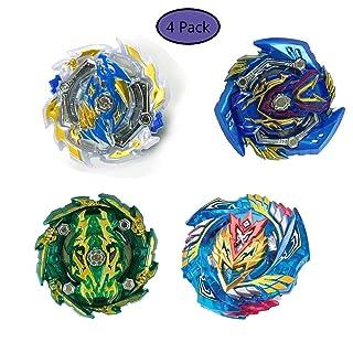szjckj 4 Pack Trottole da Combattimento - Beyblade Burst - Giocattoli educativi - 4 Set Beyblade Toy Kids ( 4 Trottole + 4 Il trasmettitore ) - -B133-B134-B135-B127