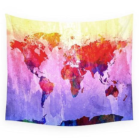 society6 world map wall tapestry medium 68