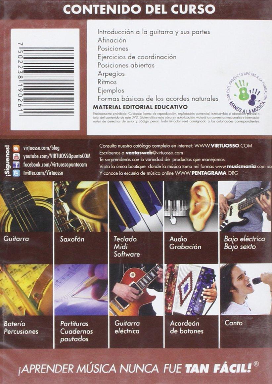 Amazon.com: Virtuosso Acoustic Guitar Full Method in 3 DVD (Curso ...