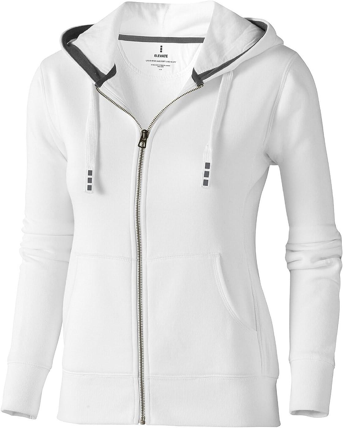 ELEVATE Damen Arora Zipsweater mit Kapuze Weiß
