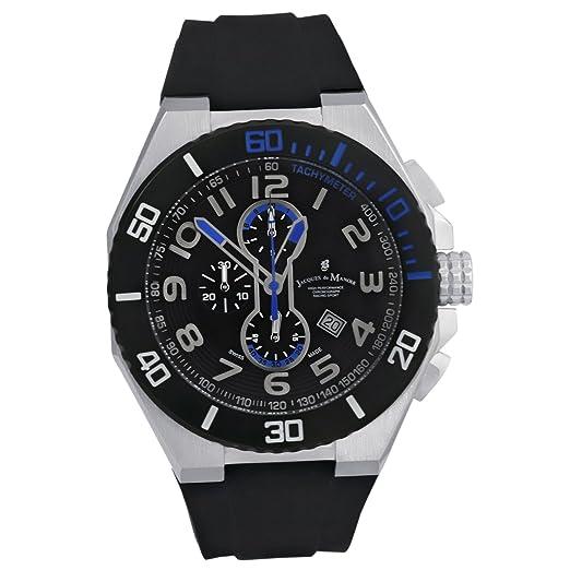 Jacques DU Manoir - Reloj cronógrafo para hombre, deportivo, hecho en Suiza, SP0.5: Amazon.es: Relojes