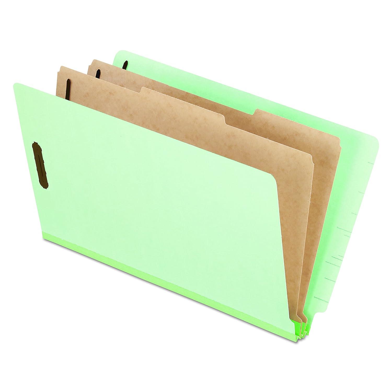 Extra-Hvy Pressboard End Tab Folders, Legal, Six-Section, Pale Green, 10/Box (並行輸入品) B000AMYQOO