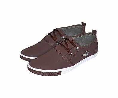 Marson Men's Casual Sneakers Dark Brown: Buy Online at Low