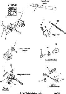 Polaris Grip Heater, Genuine OEM Part 2413079
