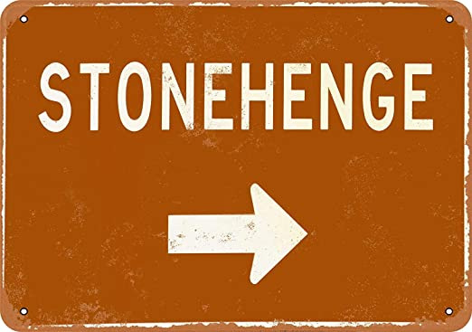 MiMiTee Stonehenge This Way Cartel De Chapa Placa Metal ...