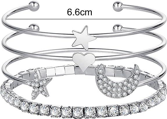 Efulgenz Bridal Multi Layered Wedding Faux Pearl Beaded Wrap Stackable Bracelet Jewelry