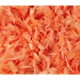 Over 35 Different Solid Color Boas by Cozy Glamour 6 Feet Long 50 Gram Weight (Orange Sherbert #41)