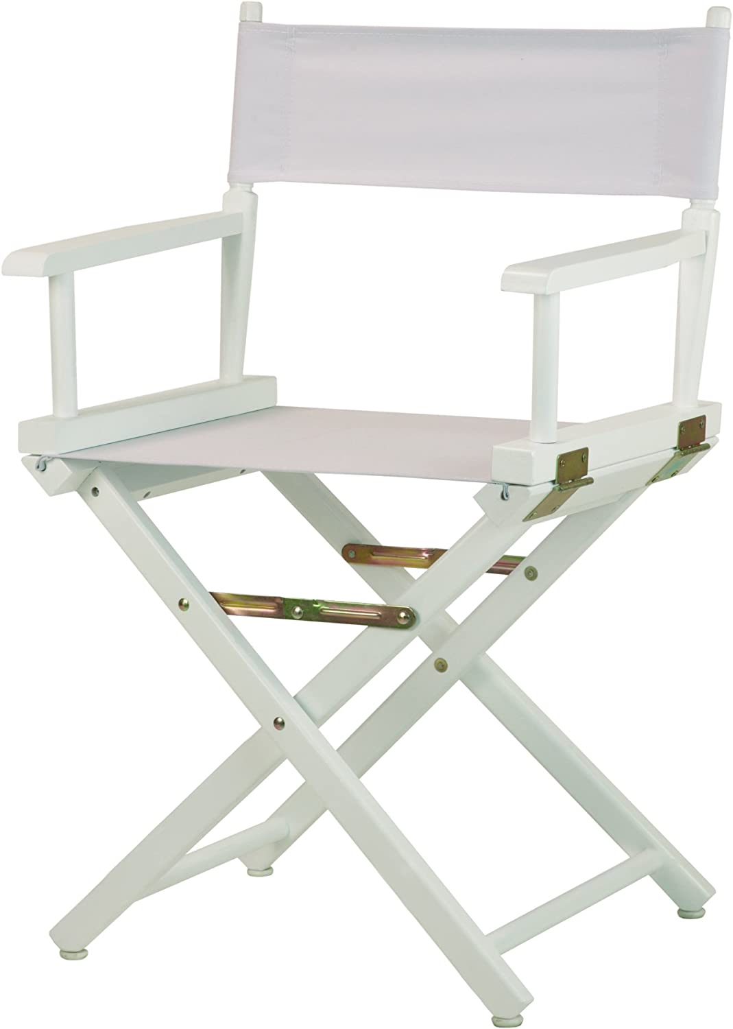 """Casual Home 18"""" Director's Chair White Frame with White Canvas"""
