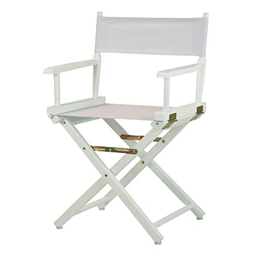 Casual Home 18 Director s Chair White Frame with White Canvas