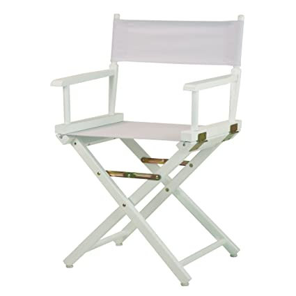 Casual Home 18u0026quot; Directoru0027s Chair White Frame With ...