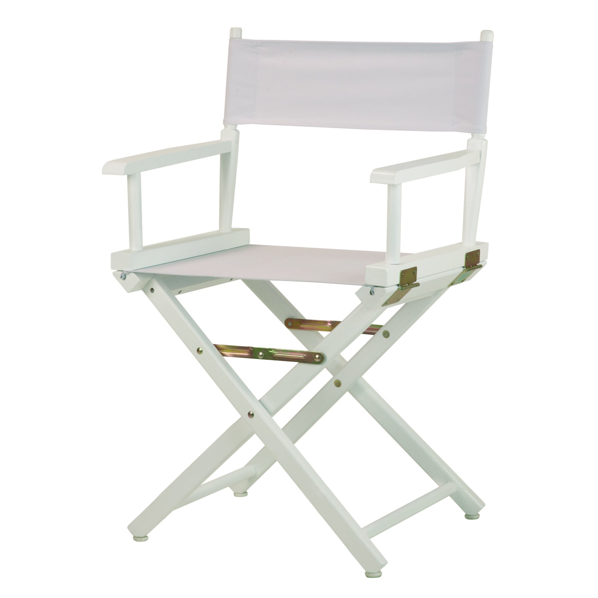 Casual Home 18'' Director's Chair White Frame with White Canvas
