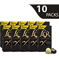 L'OR Espresso Coffee Ristretto Intensity 11 - Nespresso®* Compatible Aluminium Coffee Capsules - 10 packs of 10 capsules (100 drinks)