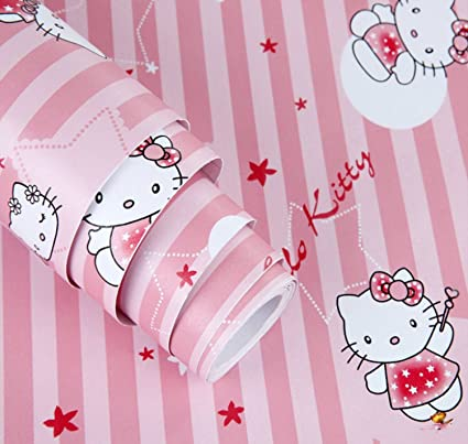 Buy Woltop Hello Kitty Pvc Wall Sticker Wallpaper 45 Cm X 600 Cm