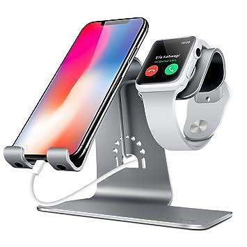 Bestand - Soporte Dual Móvil y Reloj, Aluminio Stand para Teléfonos/Apple Watch, BQ/ Sumsung / iPhone / iPad y Relojes: Amazon.es: Electrónica