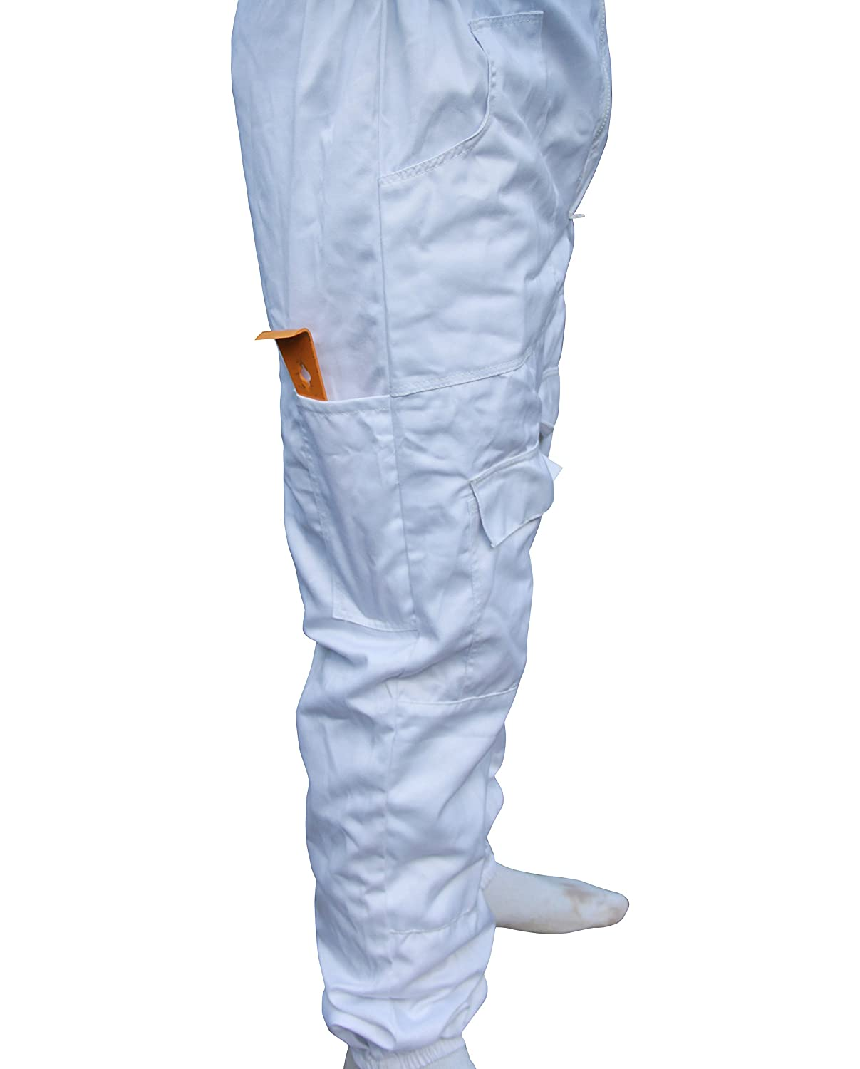 All Sizes White Beekeepers Bee Suit with Fencing Veil 2XL