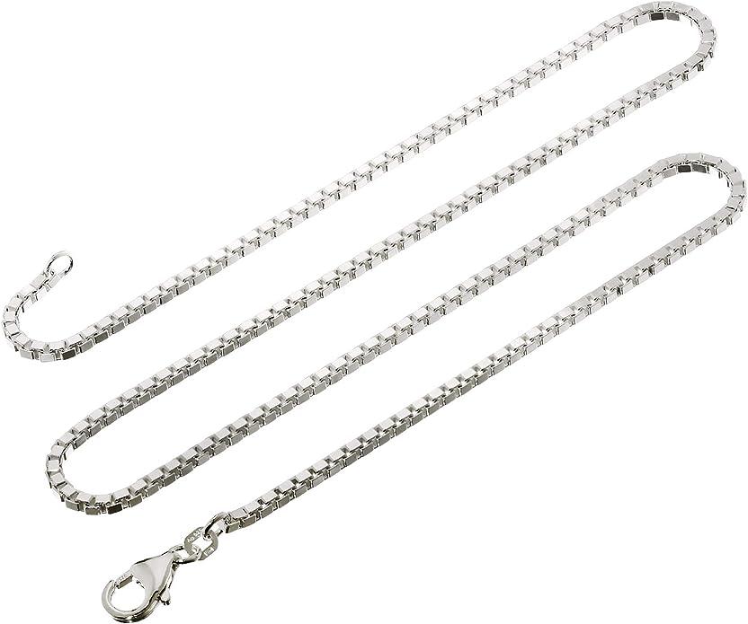 nklaus v/éritable collier en argent sterling/ /Cha/îne maille v/énitienne Argent 925/1,80/mm de large