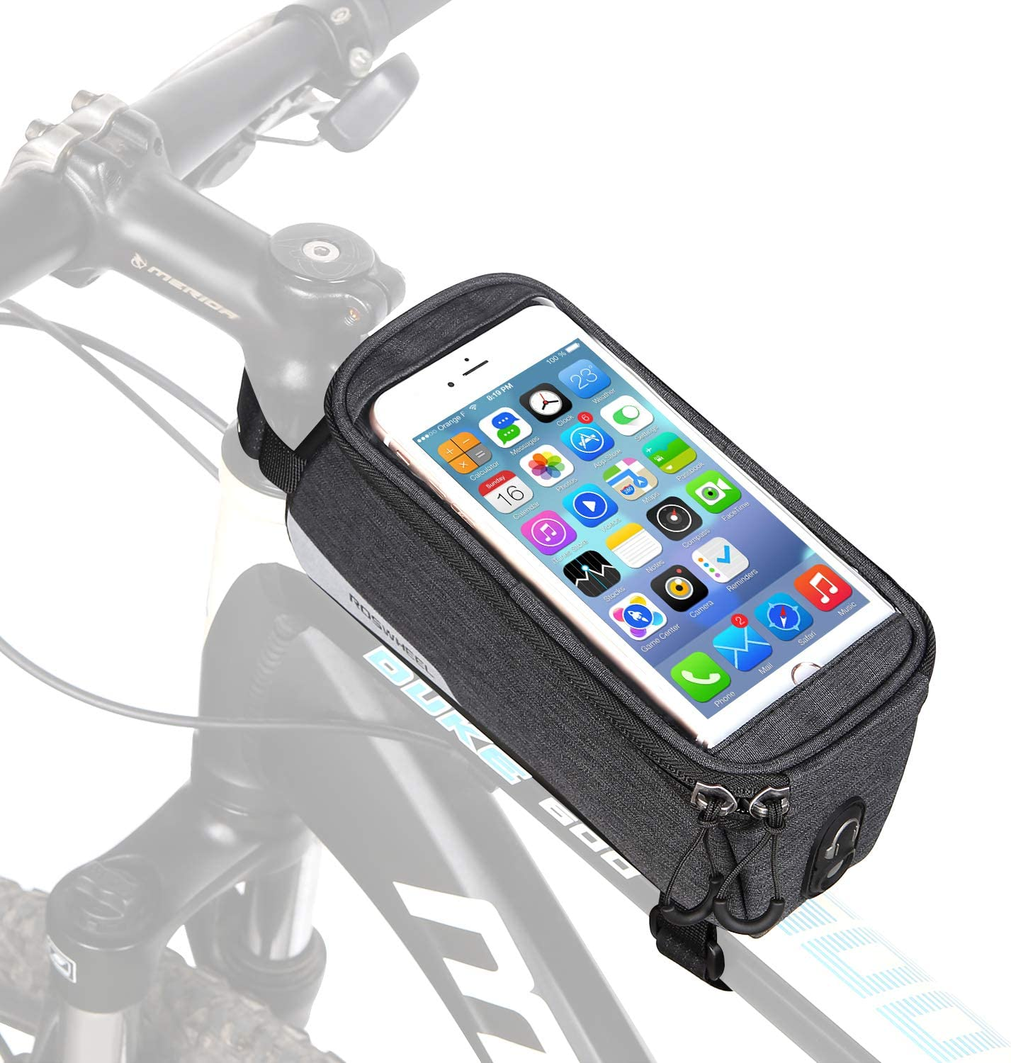 FlexDin Bike Frame Bag Top Tube Handlebar Bags