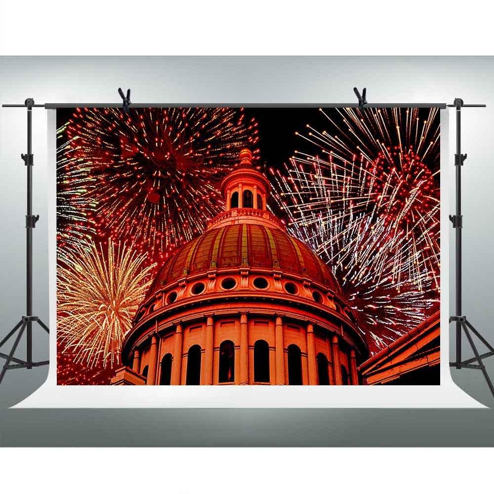 FH 7 x 5ft Beautiful Fireworksバックドロップドーム建築写真背景テーマパーティーYoutube背景写真ブース小道具Studio fh993   B07CQF273L