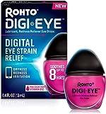 Rohto Digi-Eye Cooling Eye Drops for Digital Eye Strain, 0.4 Fl