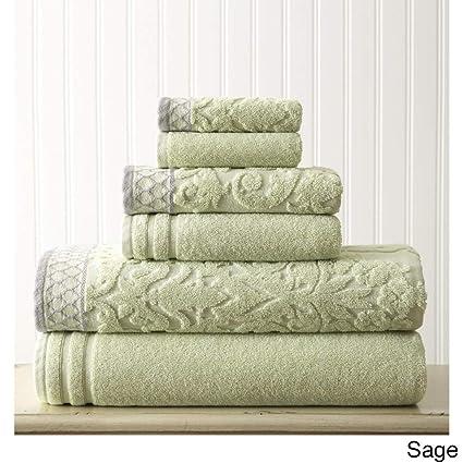 Utopia Towels Juego de Toallas Jacquard Damasco de 8 Piezas