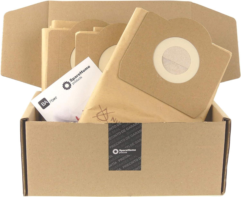 SpareHome® 10 bolsas de alta filtración para aspirador Titan - Stanley - Soteco - Vegas: Amazon.es: Hogar