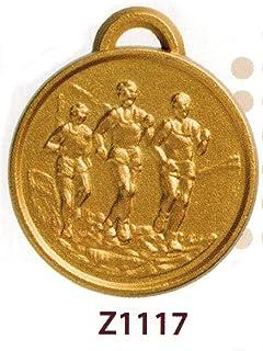 SPORTIVA Sportive 10 Médailles de première qualité athlétique légère et pignon 7 – Finition 32 mm en Alliage de zamak avec Ruban Tricolore – Fabriqué en Italie