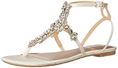 f4c659251 Amazon.com | Badgley Mischka Women's Cara Dress Sandal | Flats