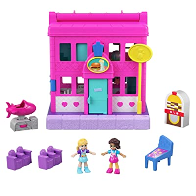 Polly Pocket Mattel Pollyville Diner, Multicolor: Toys & Games