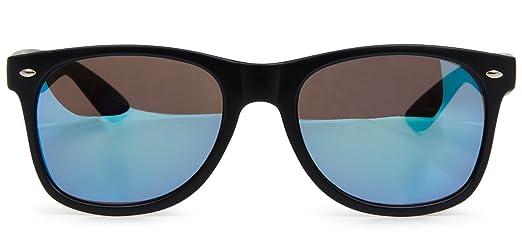 styleBREAKER Kinder Sonnenbrille, klassiches Retro, Nerd Design 09020056, Farbe:Gestell Weiß / Glas Grau Verlauf