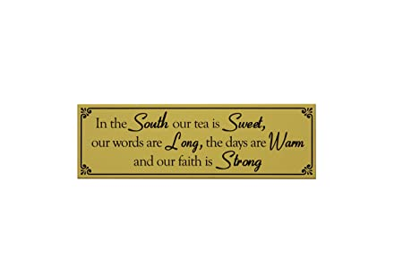 My Word! Cartel de Madera con Texto en inglés In The South ...