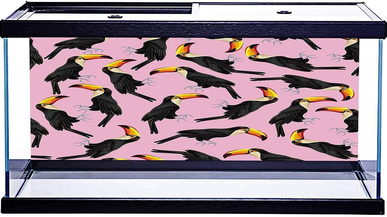 RWNFA PVC 3D Stickers Aquarium Underwater World Background Exotic Tropical Print Botanical Pattern for Kids Children Birthday Party Decoration Studio Props