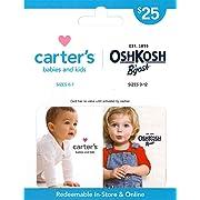 Carter's/OshKosh B'gosh Gift Card $25