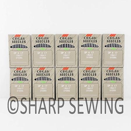 100 Organ 135x17- WALKING FOOT sewing machine needles Sz 18 Juki Consew