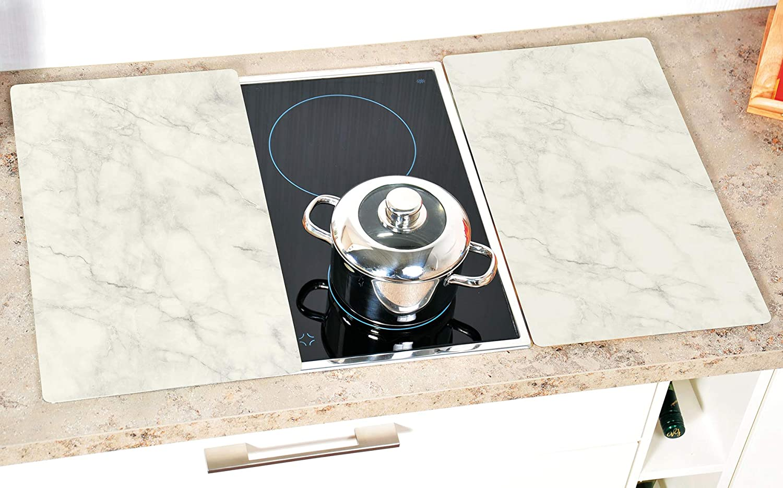 Grey Kesper 36543 13 Multi-Glass Chopping Board 52 x 30 x 0.8 cm Healthy Kitchen Motif