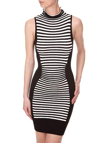 Morgan - Vestido a rayas para mujer, talla 40, color Negro/Blanco