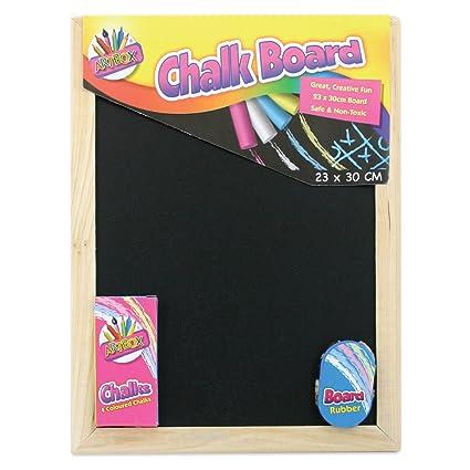 Artbox 5249 - Set pizarra y tizas (23 x 30 cm, incluye goma de borrar)