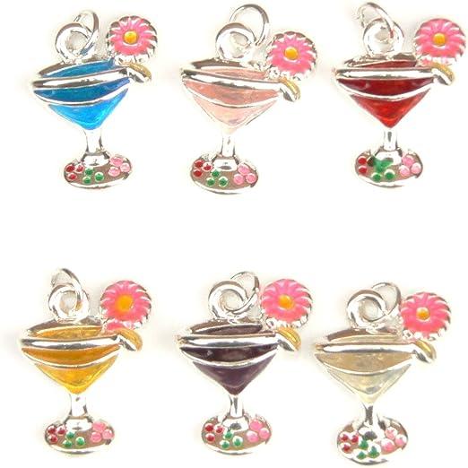 Best Friends Wish Bracelet Card Gift with Tibetan Silver Wine Glass Charm