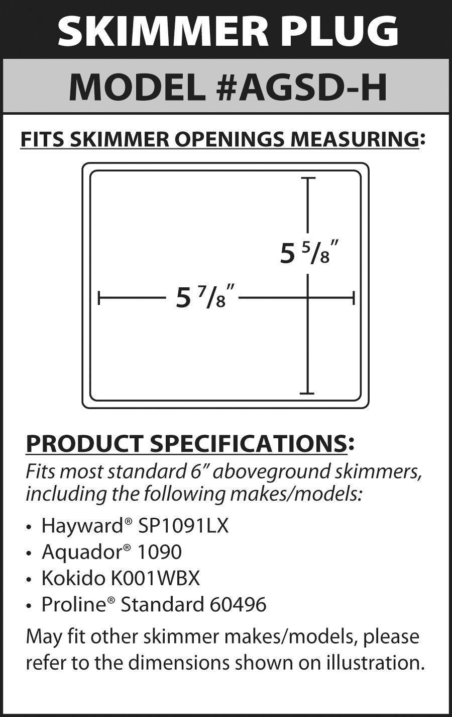 Simpooltech Standard Mouth Skimmer Plug
